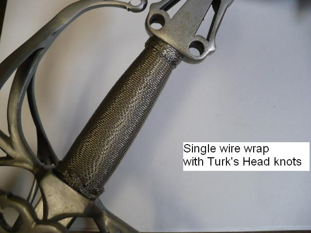 Wire Wrapped Rapier Handle