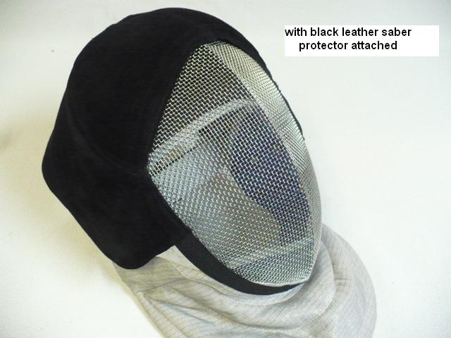 Black Leather Saber Fencing Mask Protective Padding