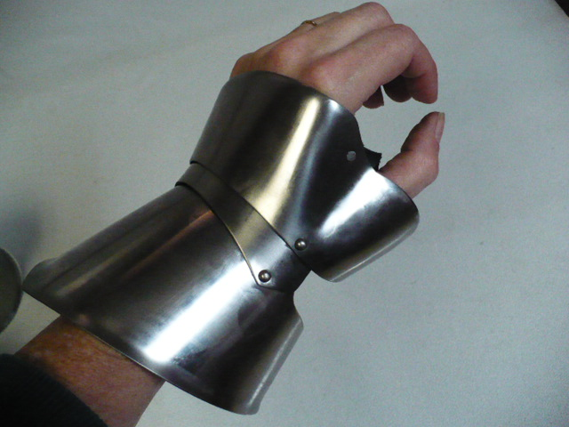 Spring Stainless Steel Demi-Gauntlets