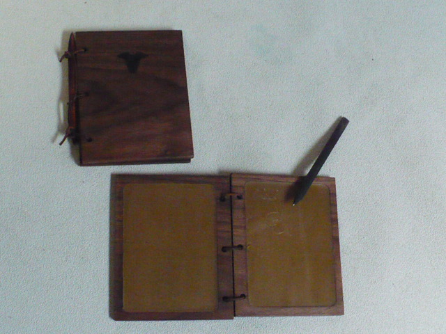 Walnut Wax Tablet Books from Swift Hound